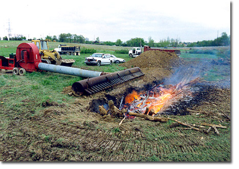 Nice Air Burners Inc Curtain Burner Destructor For Wood Waste. Busken  Construction Corp